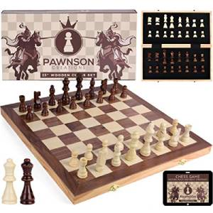Wooden Chess Set for Kids and Adults