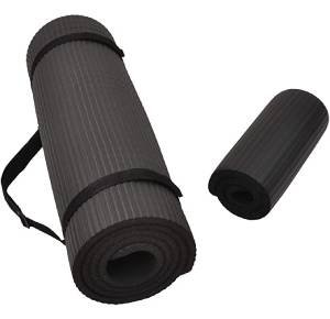 BalanceFrom GoYoga+ All-Purpose 12-Inch Extra Thick High Density Anti-Tear Exercise Yoga Mat