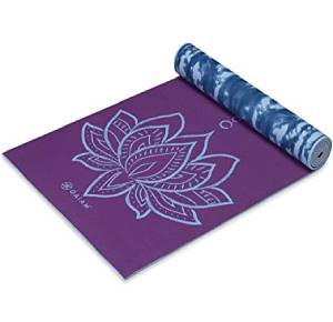 Gaiam Yoga Mat Premium Print Reversible Extra Thick Non Slip Exercise & Fitness Mat for All Types of Yoga